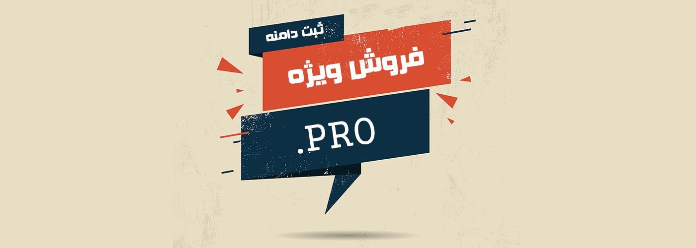 فروش ویژه ثبت دامنه PRO