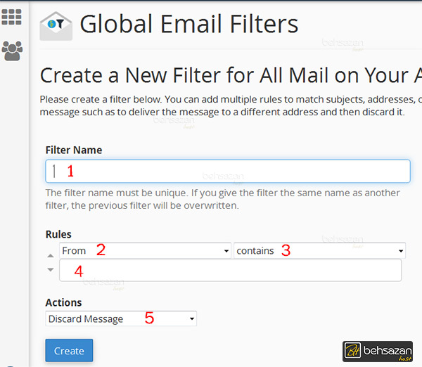 Global Email Filters