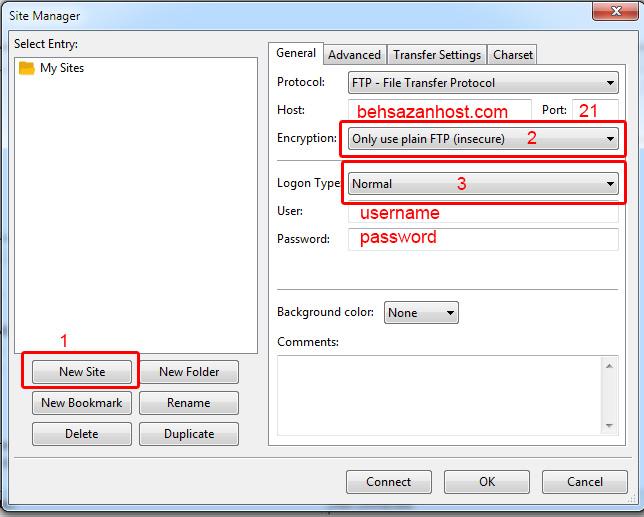 آموزش تنظیم FileZilla Client برای اتصال به FTP