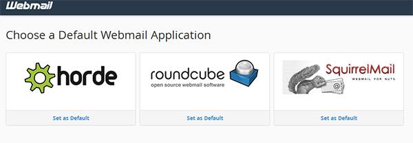 انتخاب سه سیستم ایمیل وبمیل