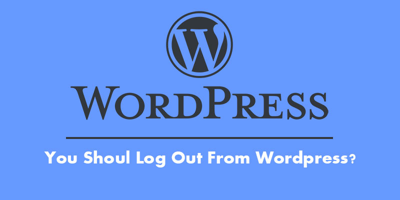 wordpress logout