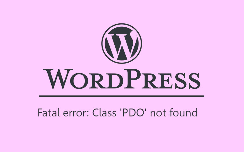 PDO wordpress