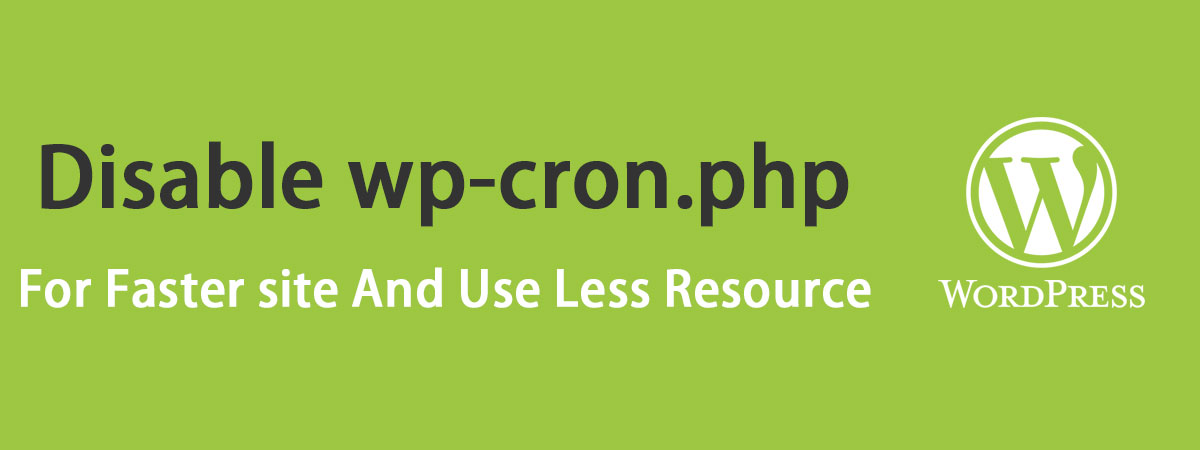 غیرفعال کردن wp-cron.php در وردپرس