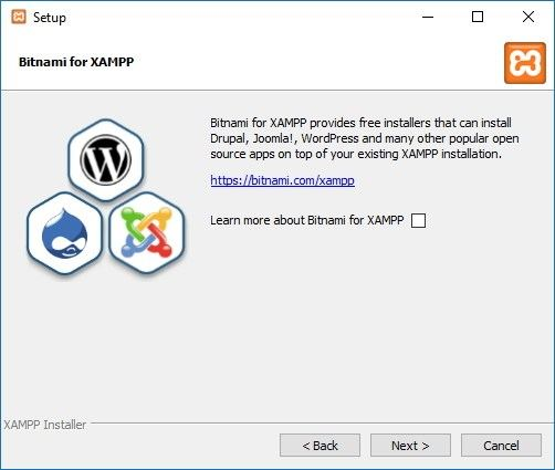 Learn more about Bitnami for XAMPP