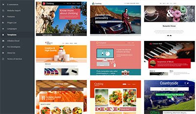 site builder templates